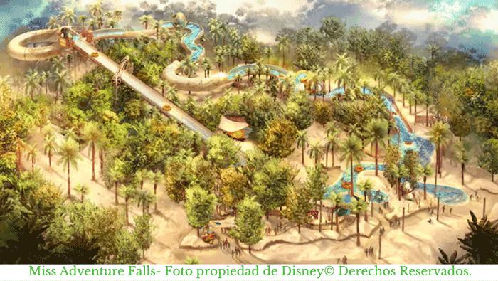 Miss Adventure Falls- Nueva atracción de Thypoon Lagoon en Disney.