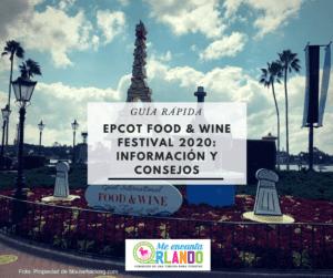 Epcot Food & Festival 2020 Información