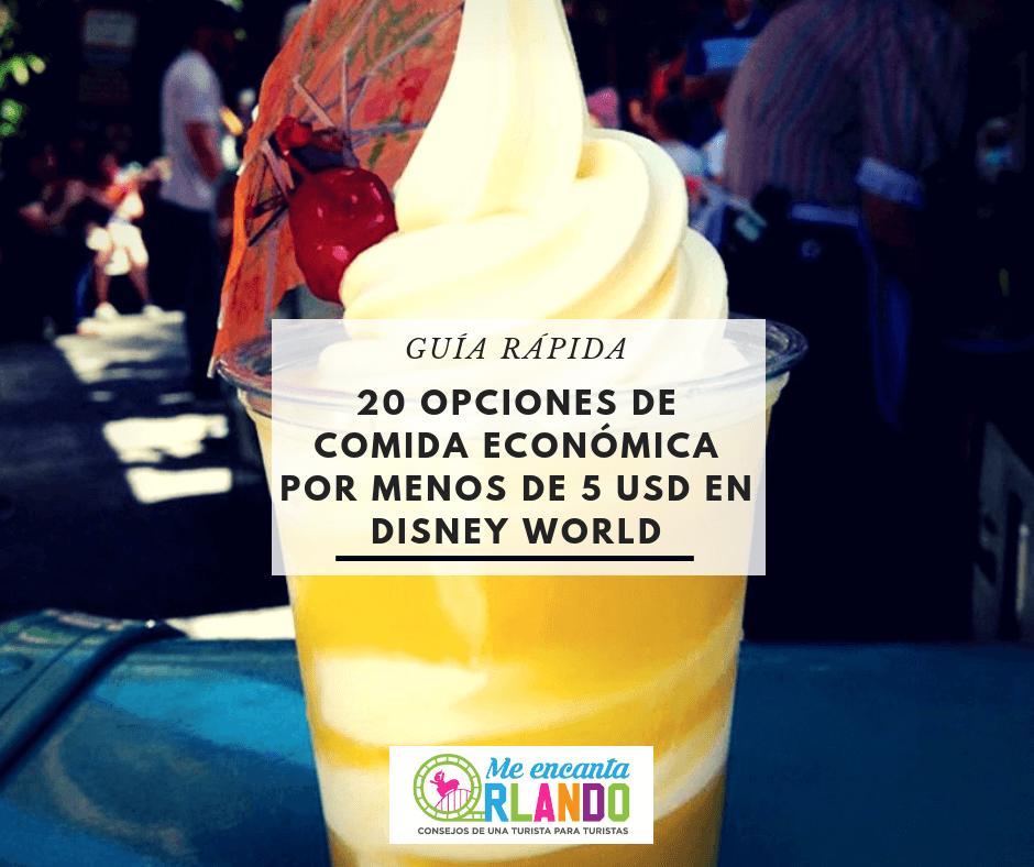 comida económica en Disney